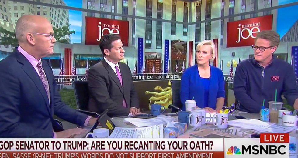 Morning Joe erupts in laughter at Trump pulling NBC's non-existent license: 'Only a moron would think that'