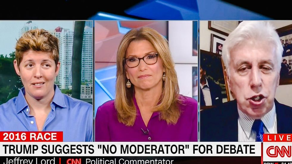 'Relax and let it happen': Jeffrey Lord demands debates allow Trump to lie by banning moderators