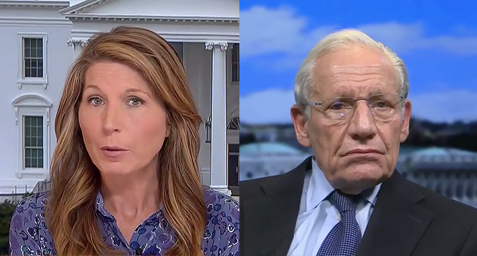 'Why won't you release all the tapes?' Nicolle Wallace presses Bob Woodward — but he says Trump lies