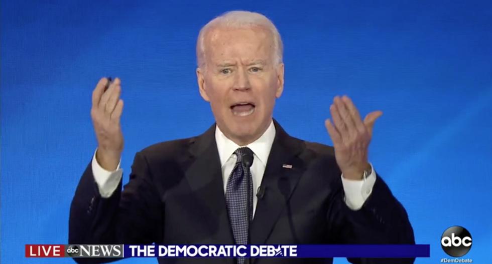 Joe Biden receives standing ovation for Lt Col Vindman at #DemDebate