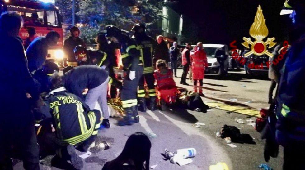 Six people, mostly teenagers, killed in Italy nightclub stampede