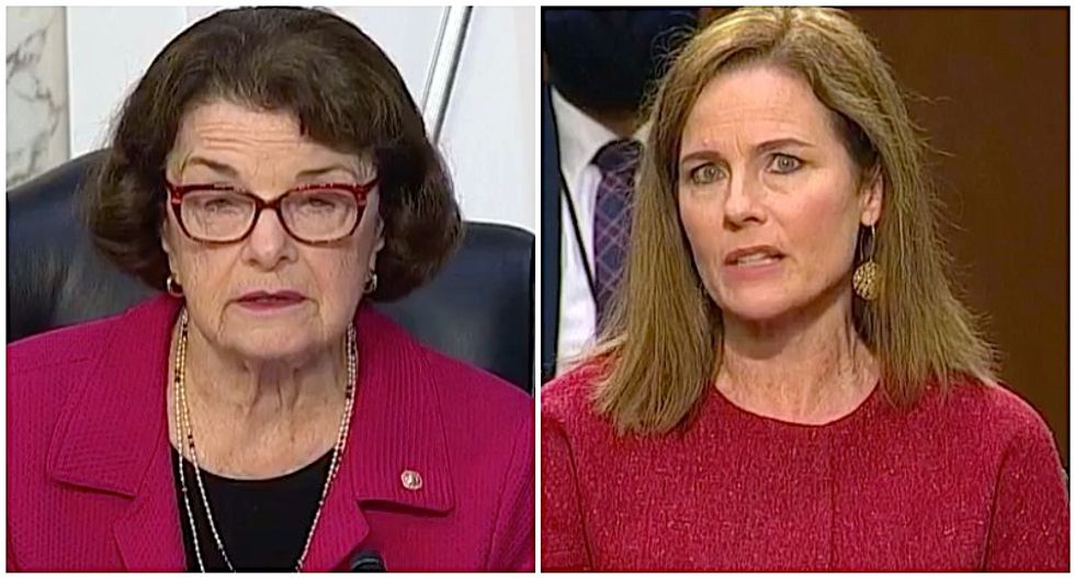 WATCH: Amy Coney Barrett repeatedly refuses to say whether she believes Roe v Wade properly decided