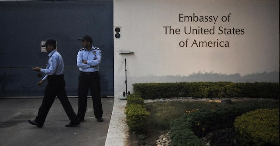Man charged with raping five-year-old girl at US embassy in Delhi
