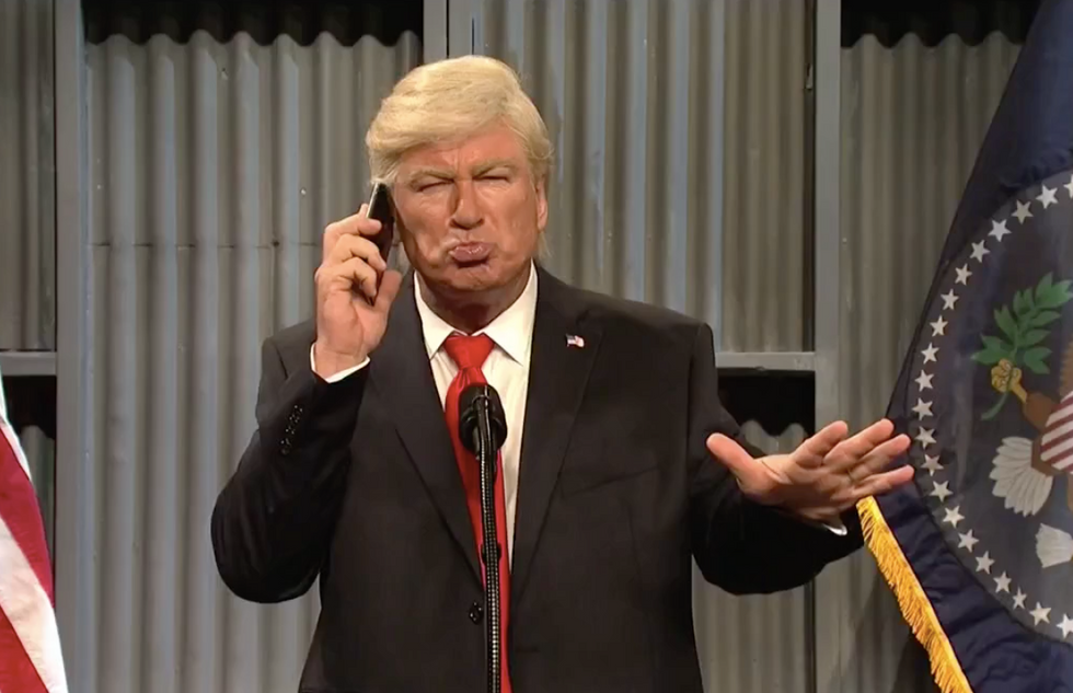 SNL's Baldwin nails Trump on feud with Tillerson: 'I took an IQ test - it came back positive'