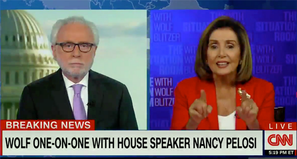 Speaker Pelosi blasts Wolf Blitzer on national TV: 'You're always an apologist' for Republican positions