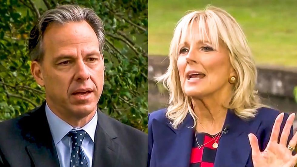 Jill Biden shuts down Jake Tapper over 'gaffe' question: 'You can't even go there after Donald Trump'