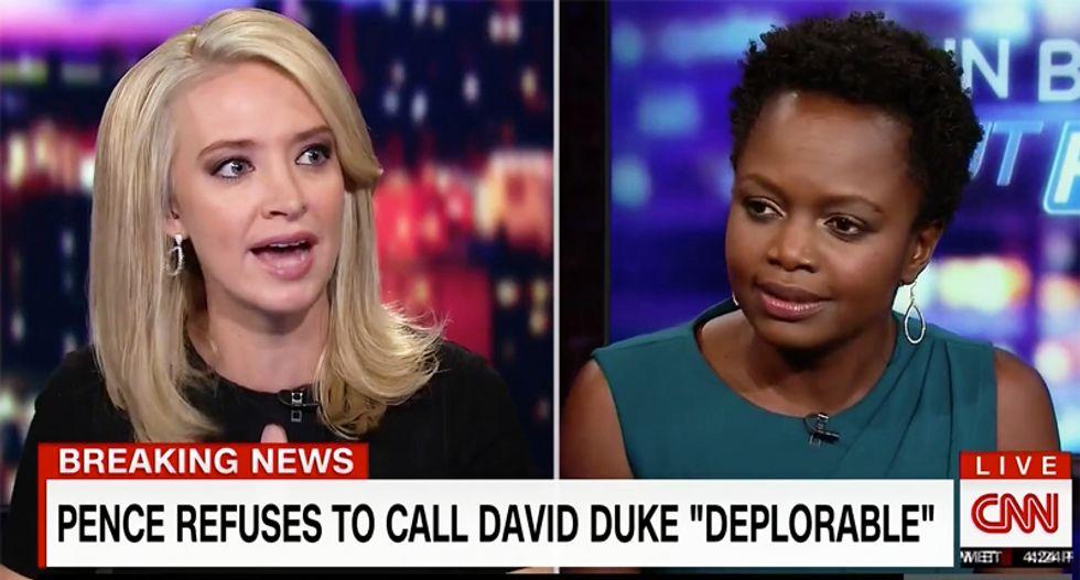Kayleigh McEnany comes unglued defending Pence for not calling ex-Klan head David Duke 'deplorable'