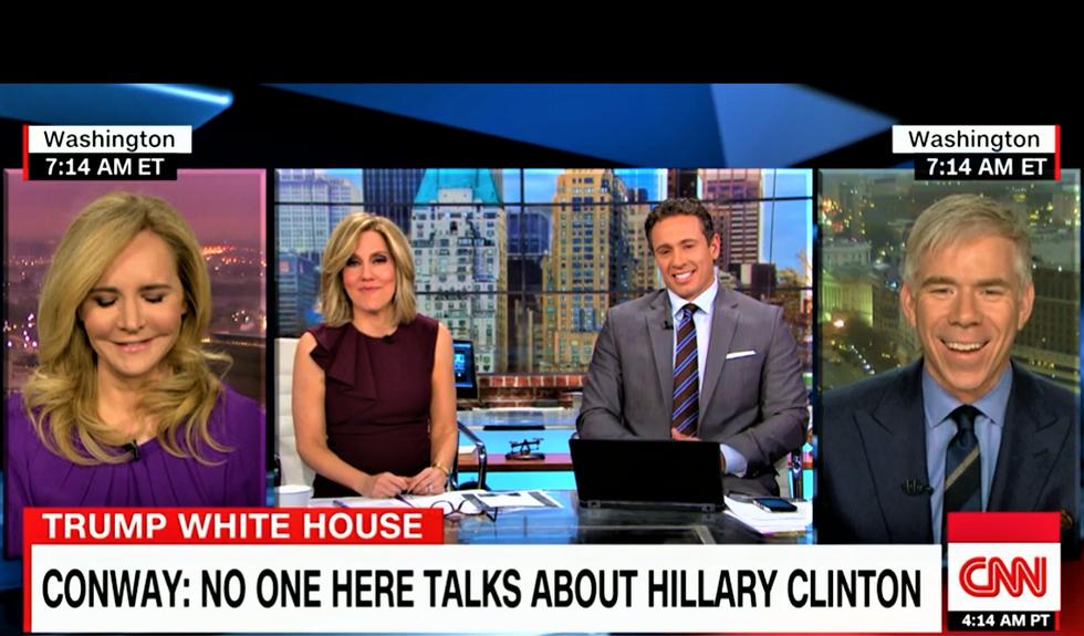 'Whatever': CNN's Alisyn Camerota mocks Kellyanne Conway for yet again denying Hillary Clinton obsession