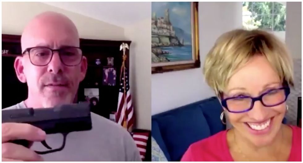 Anti-masker doctor flashes gun during video chat: 'I'd rather be carrying a gun than masking up'