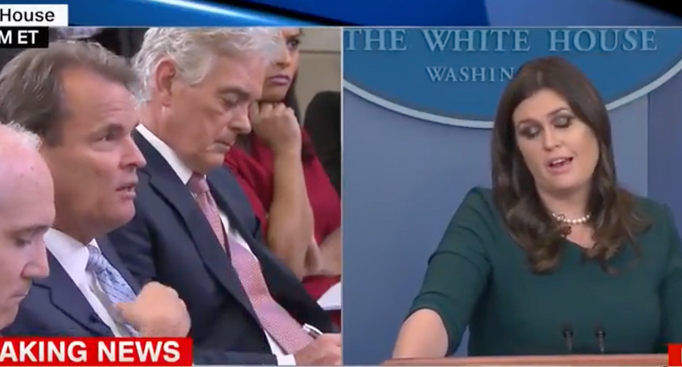 'He was wrong': Reporters corner Huckabee Sanders as she claims it's 'highly inappropriate' to question Kelly