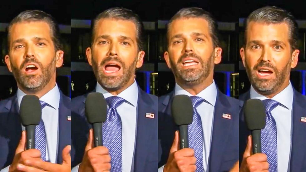 Donald Trump Jr.'s pre-debate appearance draws questions: 'How much coke did Don Jr. snort before that?'
