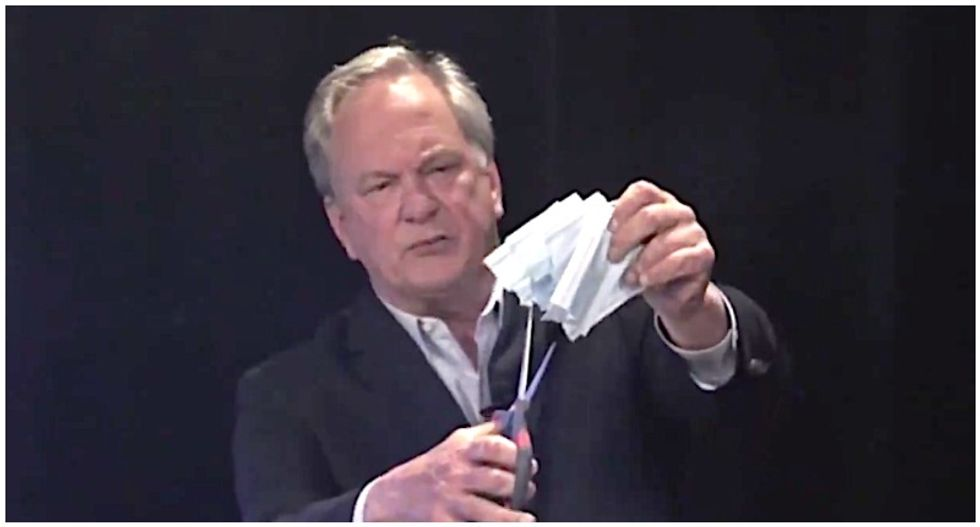 WATCH: Pro-Trump Maine Senate candidate cuts up face masks with scissors during debate