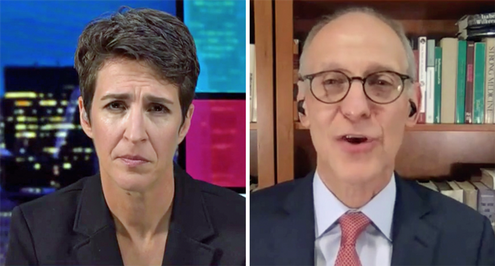 WATCH: Doc corrects Maddow and says Trump has a 'substantial risk of dying in the next few weeks'