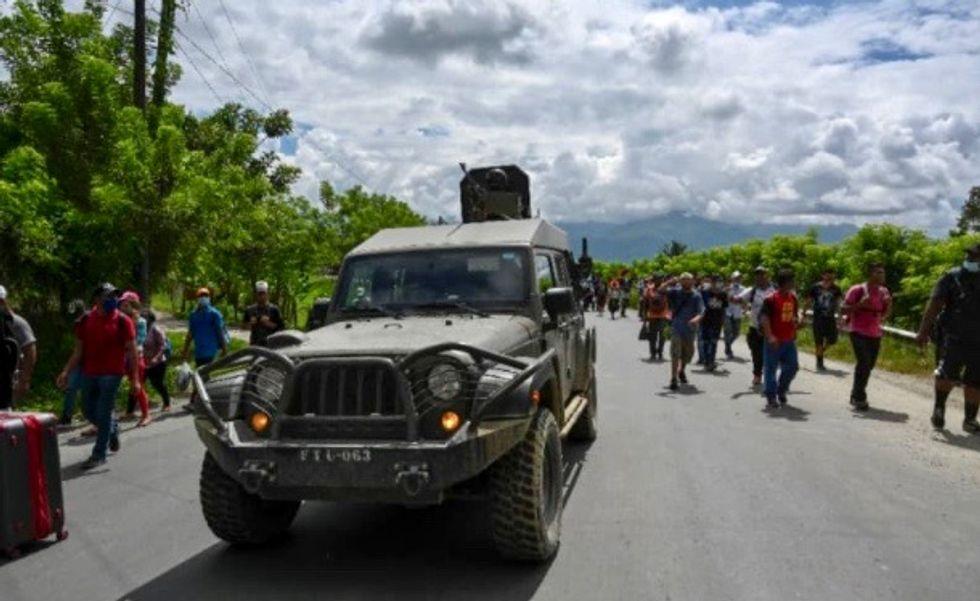 US-bound migrant caravan enters Guatemala: AFP