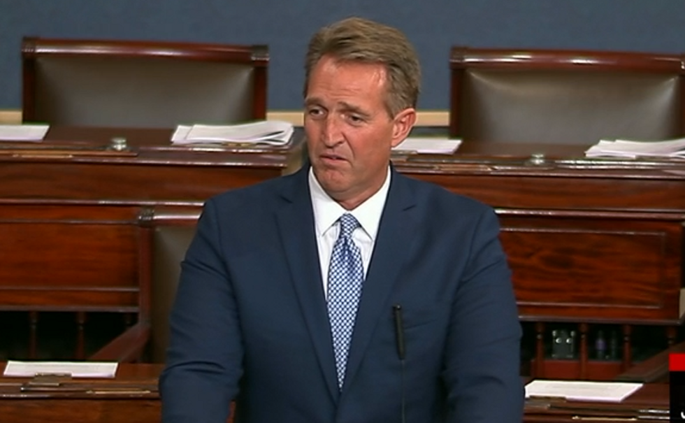 WATCH LIVE: Republican Jeff Flake to blast Trump on the Senate floor for his Stalin-like attacks on the press