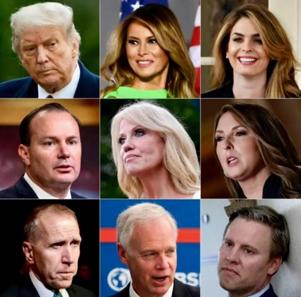 The coronavirus cases in Trump's inner circle