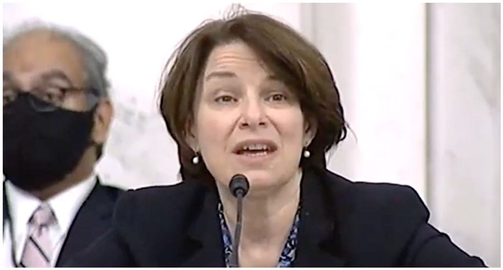 'Absolutely not normal': Senator Klobuchar slams her GOP colleagues for trying to ram through Trump's Supreme Court nominee