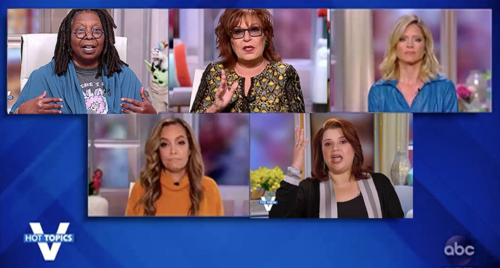 The View hosts call Trump's PR stunt 'a slap in the face to people who couldn't be with loved ones when they died'
