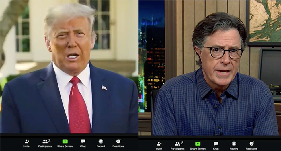 Stephen Colbert gets Trump to admit he hated Pence's debate performance in fake Zoom interview