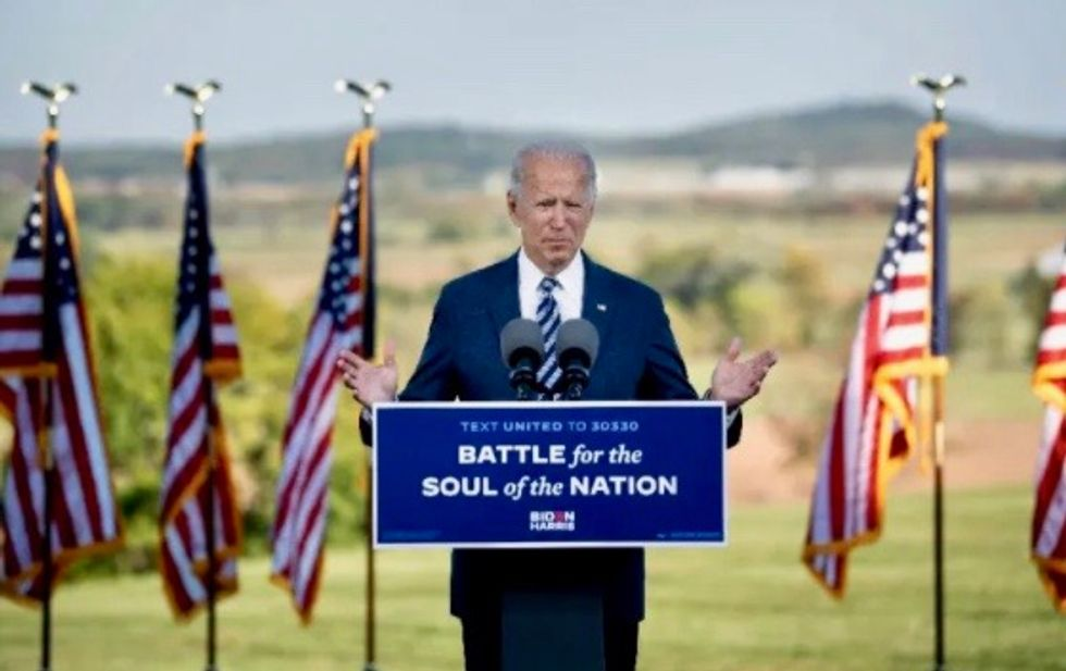Joe Biden warns 'forces of darkness' dividing US — and urges unity