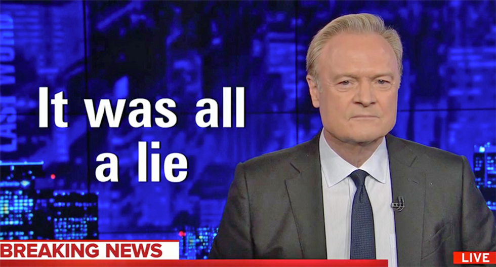 Watch Lawrence O'Donnell's epic monologue on what Trump revealed about Republicans: 'It was all a lie'