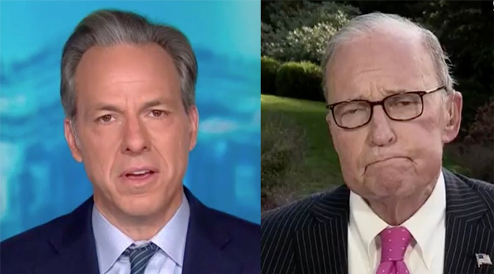 CNN's Tapper shuts down Larry Kudlow after he insists 'we are learning to live with the virus'