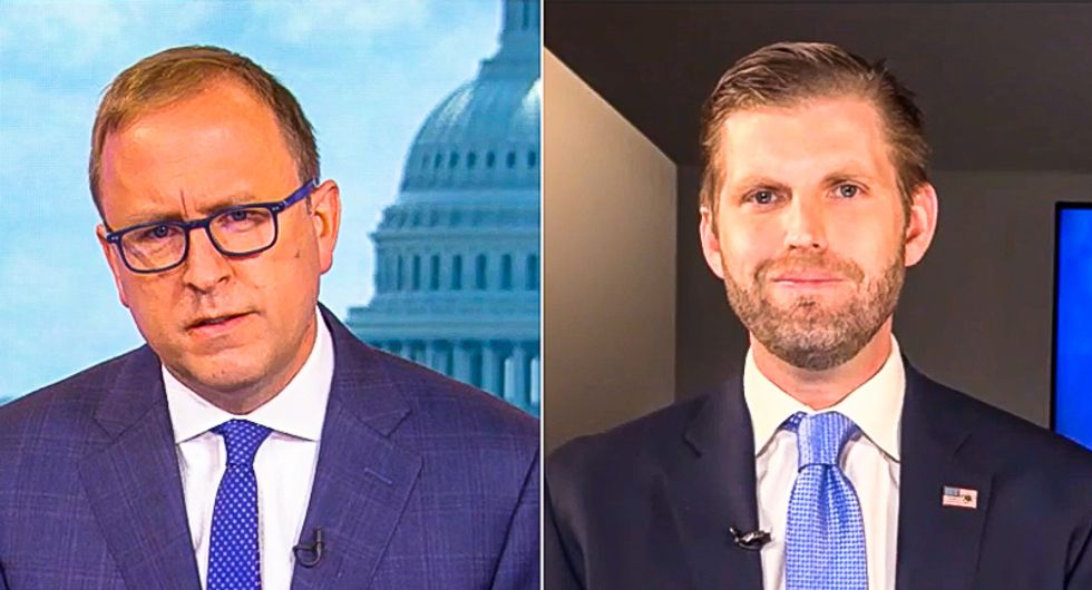 'Obviously not true': Eric Trump gets shot down on ABC after claiming 'vaccine' cured Trump of COVID