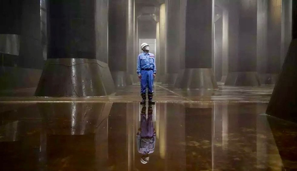The underground 'Parthenon' protecting Tokyo from floods