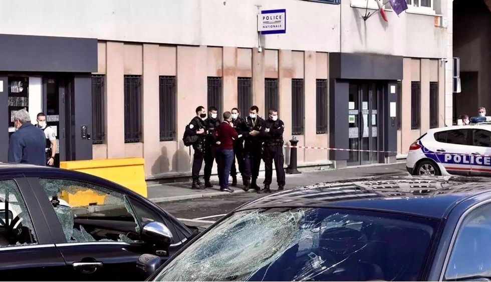 'Savage' attack on police station near Paris sparks calls for govt action