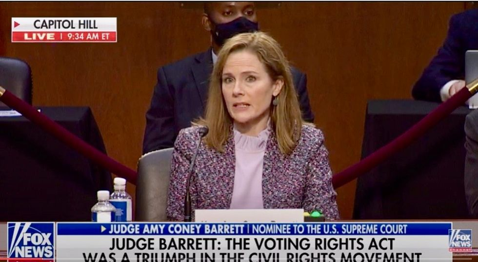 'I won't do that': Amy Coney Barrett refuses to reveal her legal position on same-sex marriage law Obergefell