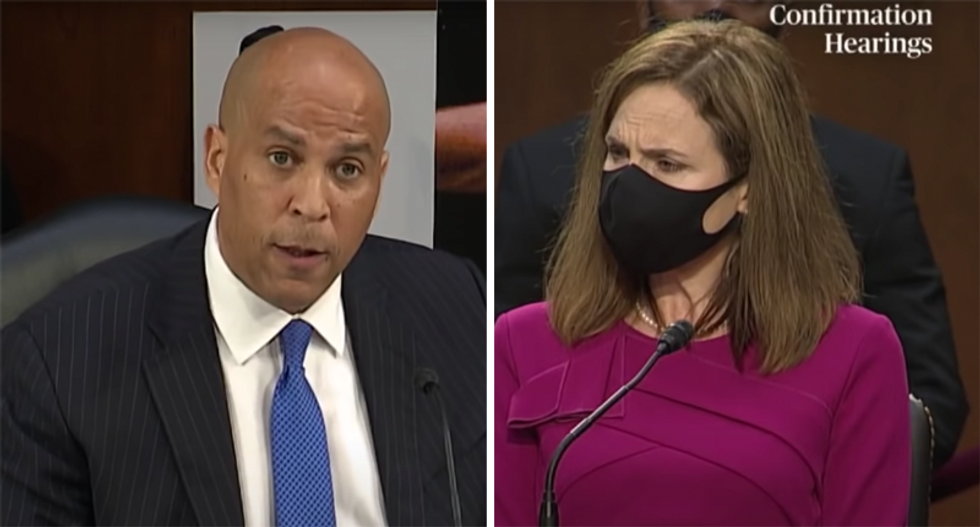 Trump attacks Cory Booker as 'an empty suit' and 'total loser' during Barrett hearings