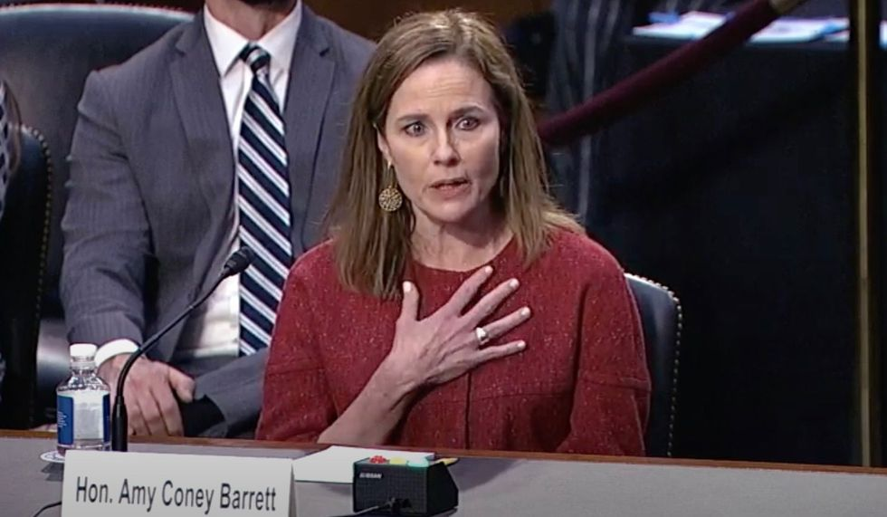 Amy Coney Barrett stumbles when Cory Booker asks questions about religion and marriage