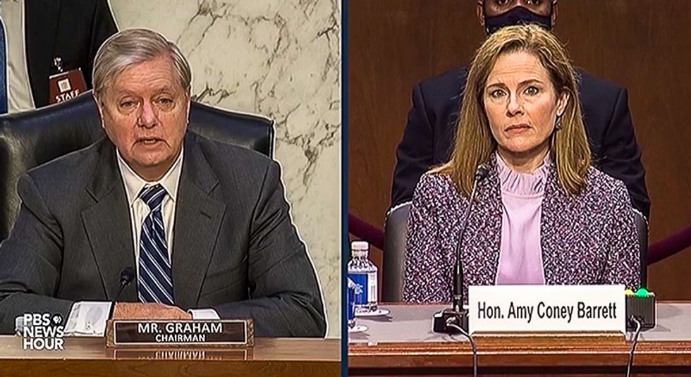 Lindsey Graham references 'good old days of segregation' at Amy Coney Barrett hearing