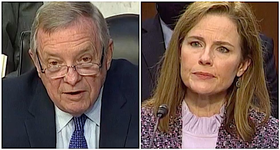 WATCH: Dick Durbin exposes the double standard in Barrett's refusal to address election delay