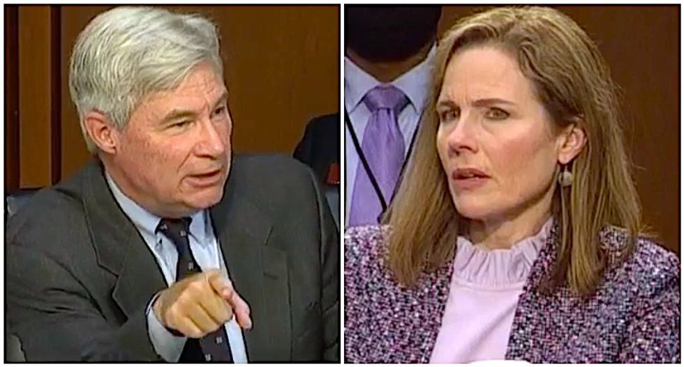 WATCH: Sheldon Whitehouse continues to expose the shadowy right-wing network that handpicked Amy Barrett