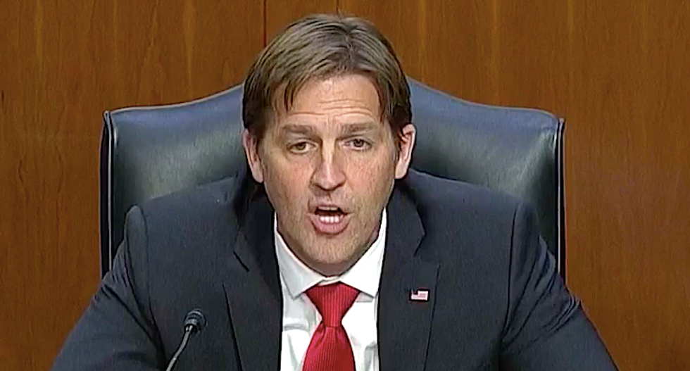 'Annoying and condescending' Ben Sasse ripped to shreds for 'laughable' defense of Amy Coney Barrett