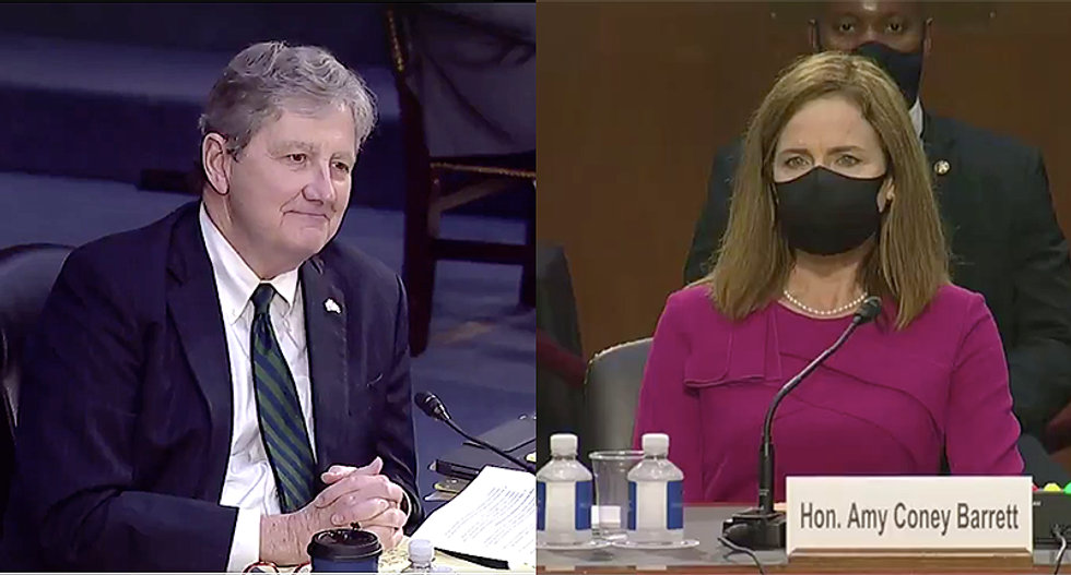 Just two years ago Republican Sen. Kennedy said Judge Barrett refused to answer key questions 'about the law'