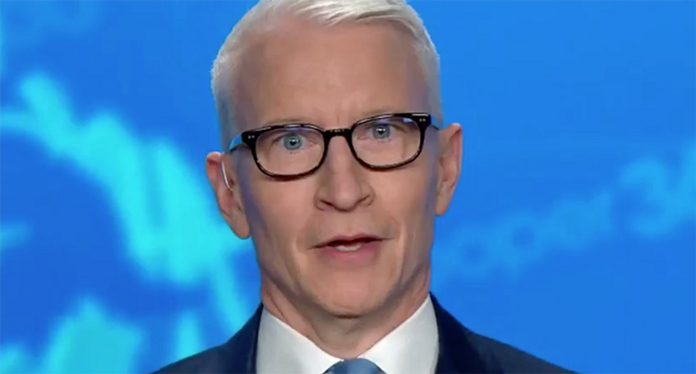 Watch Anderson Cooper's hilarious reaction to Trump playing 'Macho Man' at Florida rally