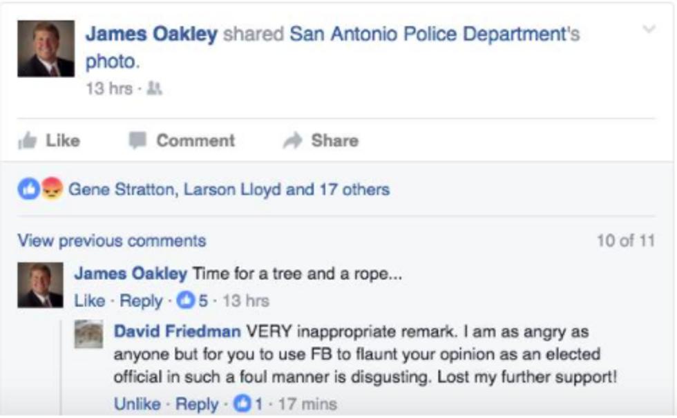 Oakley lynching post