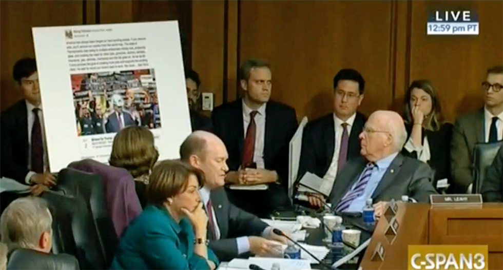 'Russians trying to influence our elections duped Americans': Facebook grilled by Senate Judiciary