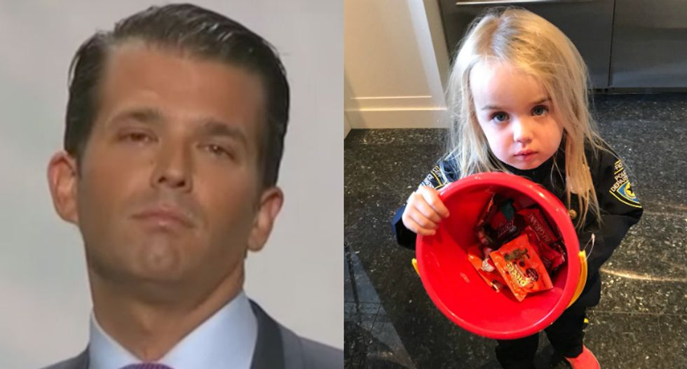 Internet slams Don Jr. for threatening to steal candy from his own daughter to teach her 'socialism'
