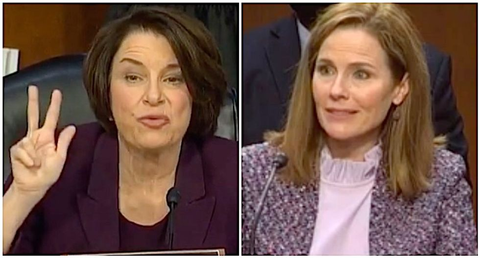 Amy Coney Barrett gets defensive as Amy Klobuchar brings up nominee's work in Bush v Gore