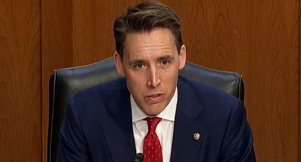 Republican Josh Hawley soils the Barrett hearing with his special talent for twisting religion