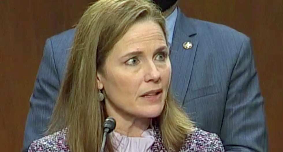 WATCH: Kamala Harris corners Amy Coney Barrett on climate change in epic congressional grilling