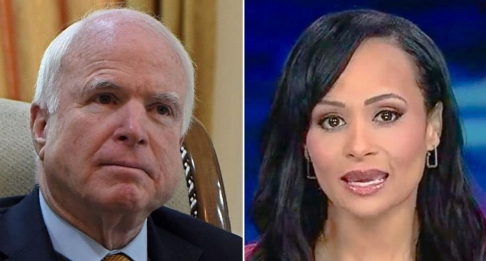 Trump surrogate Katrina Pierson demands John McCain answer her questions -- and gets buried in ridicule