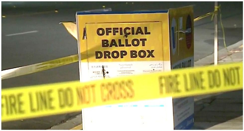 Countless ballots destroyed in Los Angeles as official drop box goes up in flames