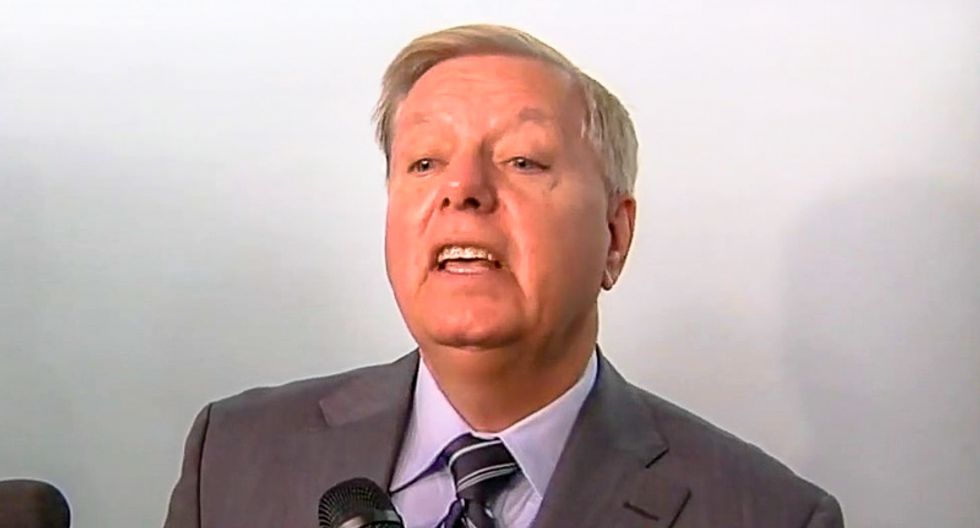 Lindsey Graham demands GOPers sign Trump loyalty oath because impeachment 'is about to destroy this nation'