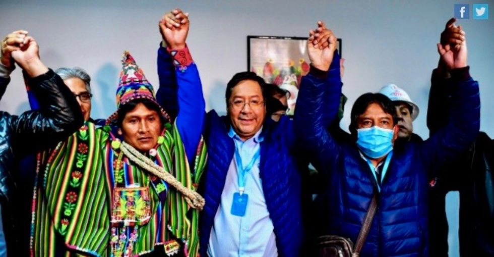 'Democracy has won': Year after right-wing coup against Evo Morales, socialist Luis Arce declares victory in Bolivia