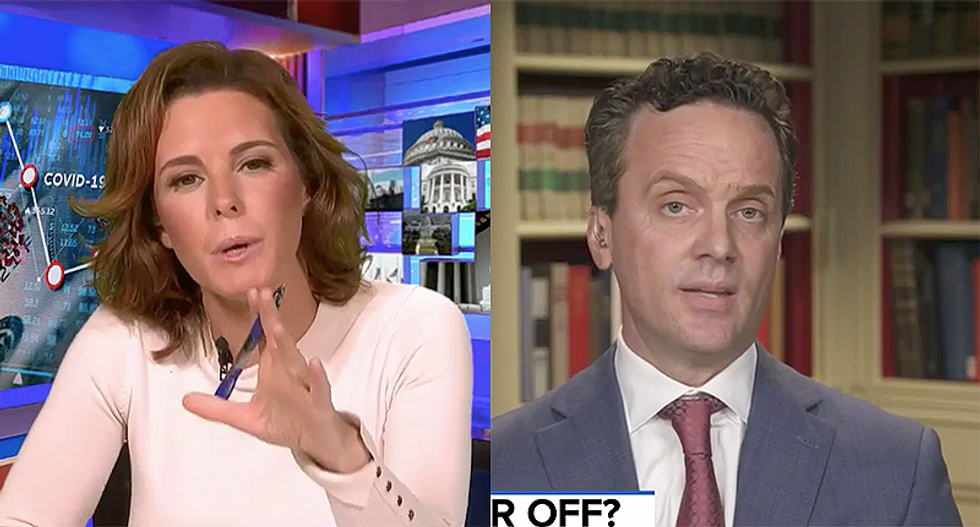 WATCH: MSNBC's Ruhle smacks down Trump advisor for claiming the stock market and the economy 'are the same'