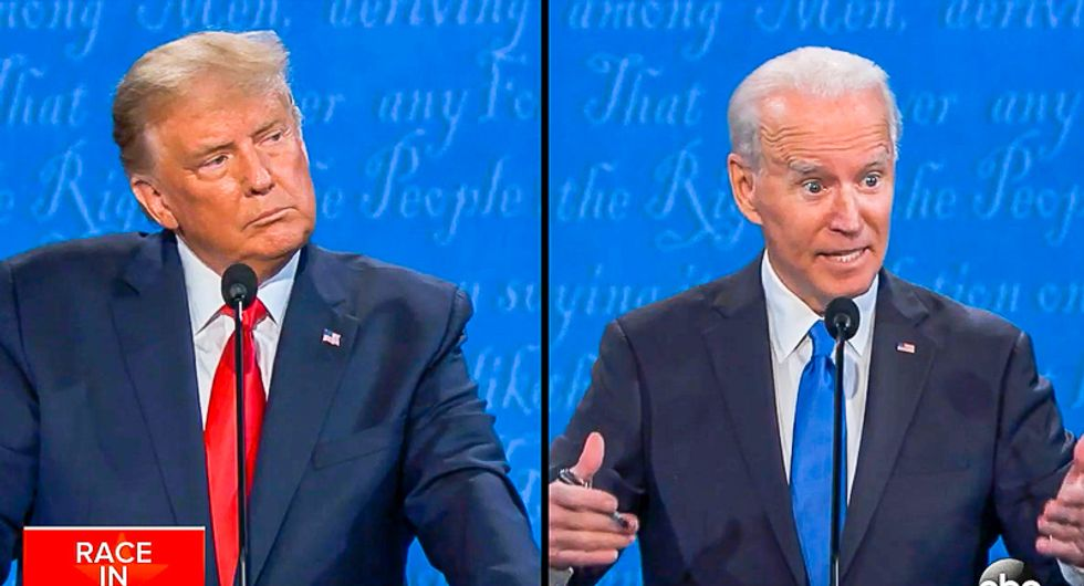 'This guy is a dog whistle': Biden lights Trump up after he claims to be 'least racist' person at debate